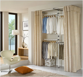 Three-level pants clothes rack curtain, jacquard (white) (LS-3477)