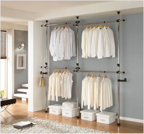 Four-level clothes rack chrome (LS-1176)