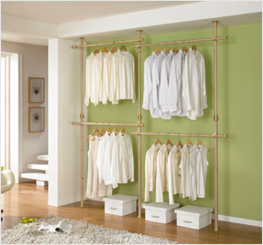 wFour-level clothes rack wood (LS-2890)