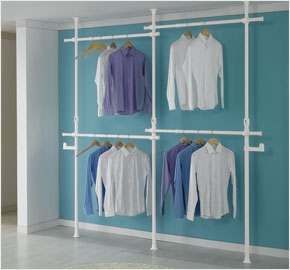 Four-level clothes rack white wash (LS-1299)